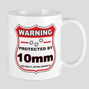 protected by 10mm shield Mug